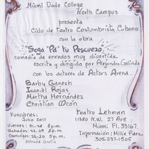 Flyer for the theatrical production, Soga pa' tu pescuezo