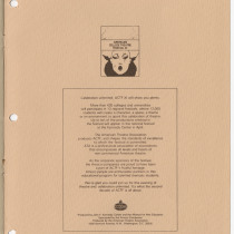 "Program for the production, ""Garden of delights"""