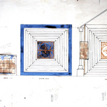 Set design drawings for the theatrical production, La Cucarachita Martina y el Ratoncito Pérez