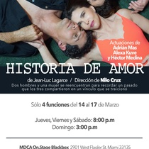Poster for the theatrical production, Historia de amor (últimos capítulos)