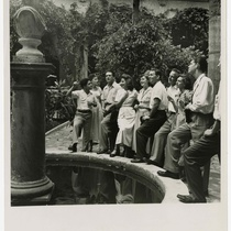 Photograph of Drama Department members on a tour in Havana
