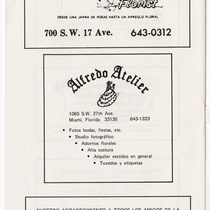 "Program for the production, ""Electra Garrigó"""
