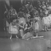"Mercedes Vergara, Sonia Calero, Alicia Alonso, Caridad Martínez in the Ballet ""Giselle"""