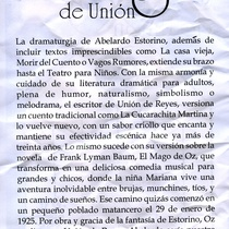 Flyer for the exhibit, El mago de unión