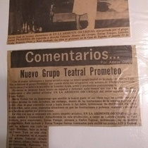 Press clipping of the production, En la ardiente oscuridad