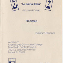 "Invitation for the production, ""La dama boba"""