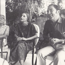 Arnold Haskell, Alicia Alonso, Alberto Alonso during the filming of Carmen
