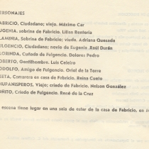 "Program for the production, ""Los enamorados"""