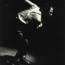 "Photograph of Julio Medina in the production, ""Fabriles"""