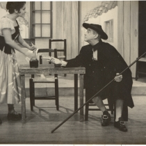 "Scene from the production, ""La zapatera prodigiosa"""