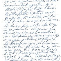 Letter from O.F.V to Francisco Morín, 1995
