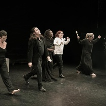 Photographs of the theatrical production, Writing in Sand