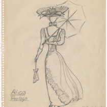 "Costume design for the production, ""Lucy"""