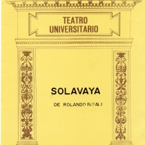 "Cover from the program for the production, ""Solavaya"""