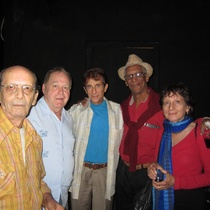 Photographs of Pedro Monge Rafuls and various Cuban playwrights in La Habana