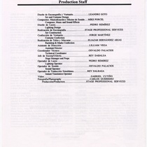 "Program for the production, ""Los Fantasmas de Tulemón"""
