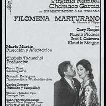 "Poster for the production, ""Filomena Marturano"""