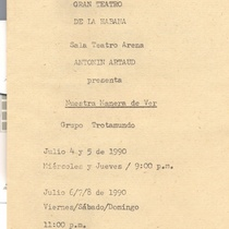 "Program for the production ""Nuestra manera de ver"""