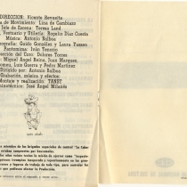 "Program for the production, ""El baño"""