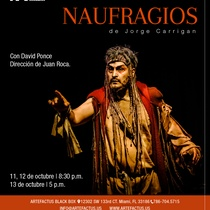 Poster for the theatrical production, Naufragios