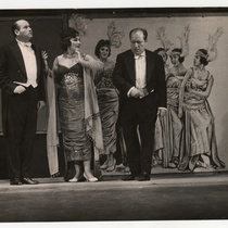 "Scene from the play, ""Las vacas gordas"" (The fat cows)"