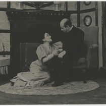 "Scene from the play, ""Candida"""