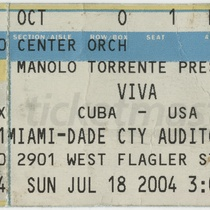 "Ticket for the production, ""Viva Cuba - USA"""