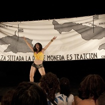 "Mariela Brito (Yara la China) in the performance, ""Cubalandia"""