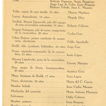 "Program for the production, ""Historia de amor en Irkutsk"""