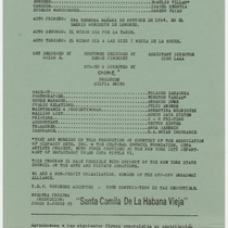 Program for the theatrical production, Candida