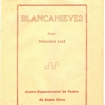 Program for the theatrical production, Blanca nieves