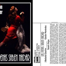 "Postcard for the production, ""Las penas saben nadar"""
