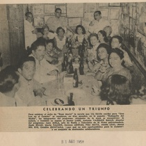 "Newspaper clipping of the TV production, ""Rosa María"""