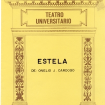 "Cover from the program for the production, ""Estela"""
