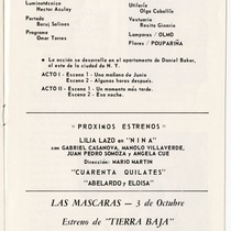 "Program for the production, ""Las mariposas son libres"""