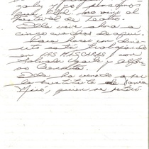 Letter from Lázaro Zamora to Francisco Morín, 2004