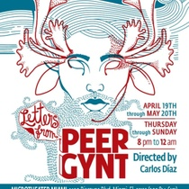 "Poster for the production ""Cartas de Peer Gynt"" in Miami"