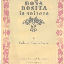 Program for Doña Rosita la soltera