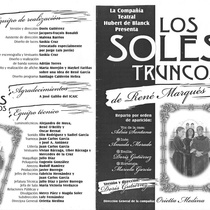 "Program for the production, ""Los soles truncos"""