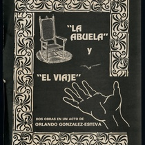 "Poster for the productions, ""La abuela"" and ""El viaje"""