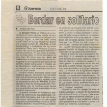 Bordar en solitario