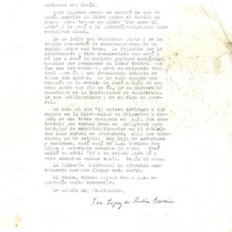 Letter from Eva Lopez de Rubia Barcia to Francisco Morín, 2002