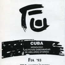Program for the theatrical production, Las penas saben nadar
