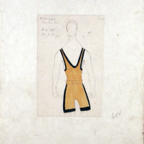 Costume design for Rodolfo in the theatrical production, Las vacas gordas