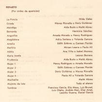 "Program for the production, ""La Casa de Bernarda Alba"" (Teatro Estudio,"
