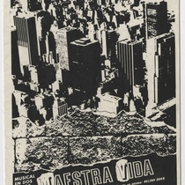 "Program for the production, ""Maestra Vida"" (Teatro Musical de La Habana)"