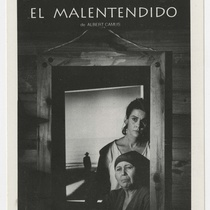 "Postcard for the production, ""El malentendido"""