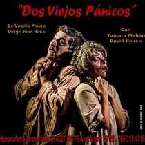 "Poster for the production, ""Dos viejos pánicos"""