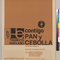 "Poster for the production, ""Contigo, pan y cebolla"""