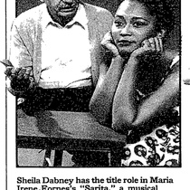 Photograph of Rodolfo Díaz and Sheila Dabney in the production, Sarita